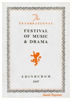 Festival programme 1947. Kindly reproduced from Capital Collections: www.capitalcollections.org.uk