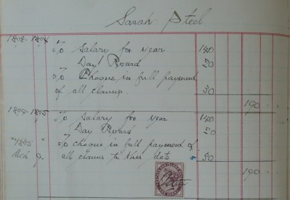 Salaries book from Jenners Department Store. From collection held at Edinburgh City Archives